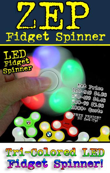 Premium Quality LED Light Up Fidget Spinners