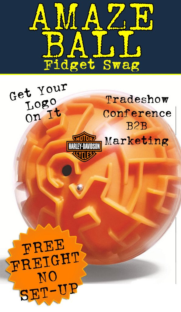 Amaze Maze ball and puzzle toy for promotional product, ad specialty, marketing and tradeshow and conference gift.
