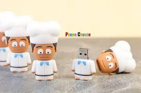 chef shaped custom usb flash drive