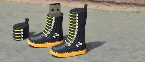 custom boot shaped usb flash drive