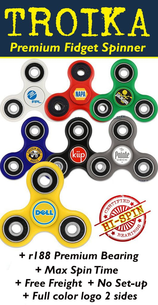 troika fidget spinner free freight and no set up fees