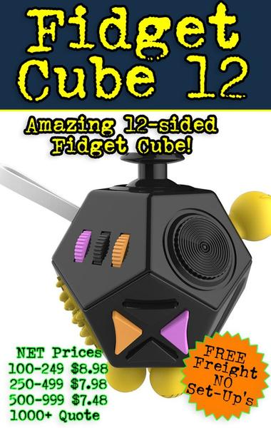 Just when you thought that Fidgeting was safe along comes the newest sensation. The 12 sided fidget cube is the ultimate fidget toy. It features 12 sides of fidgeting fun.