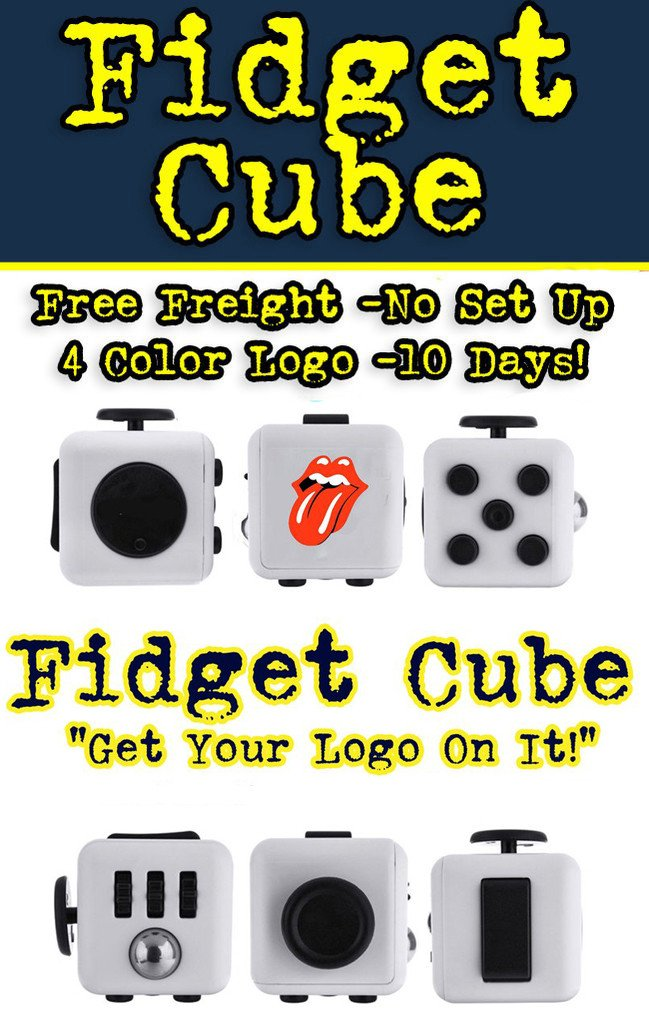 fidget cube for promotional product marketing and b2b promotions