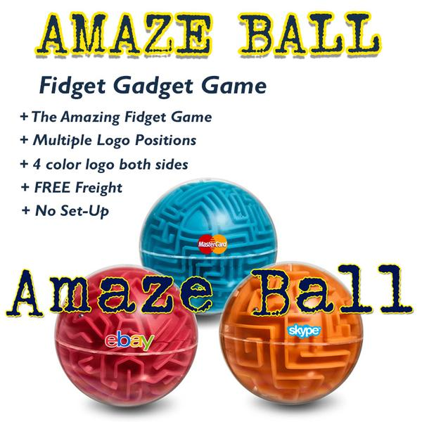 The Fidget Phenom carries on with the AMAZE BALL FIDGET PUZZLE. In an effort to capture the super trend fidget spinner with the latest in gameboard trends combined all into 1 great fidget puzzle called Amaze Ball. Promo Motive has been the leader in fidget promotional swag.