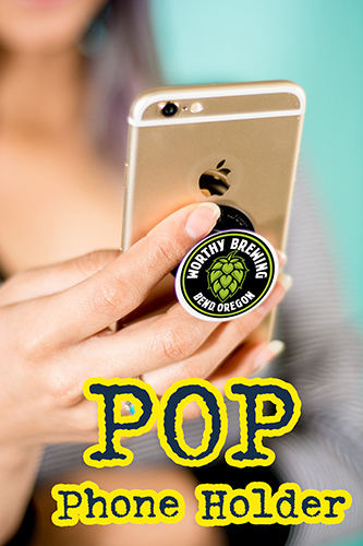 logo marketing pop socket phone holder for promotional products and tradeshow bulk