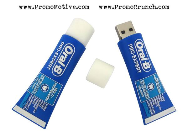 tooth paste tube shaped flash drive for dentists