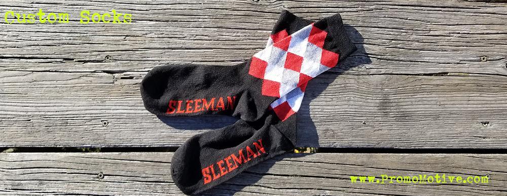 sleemand beer promotional socks