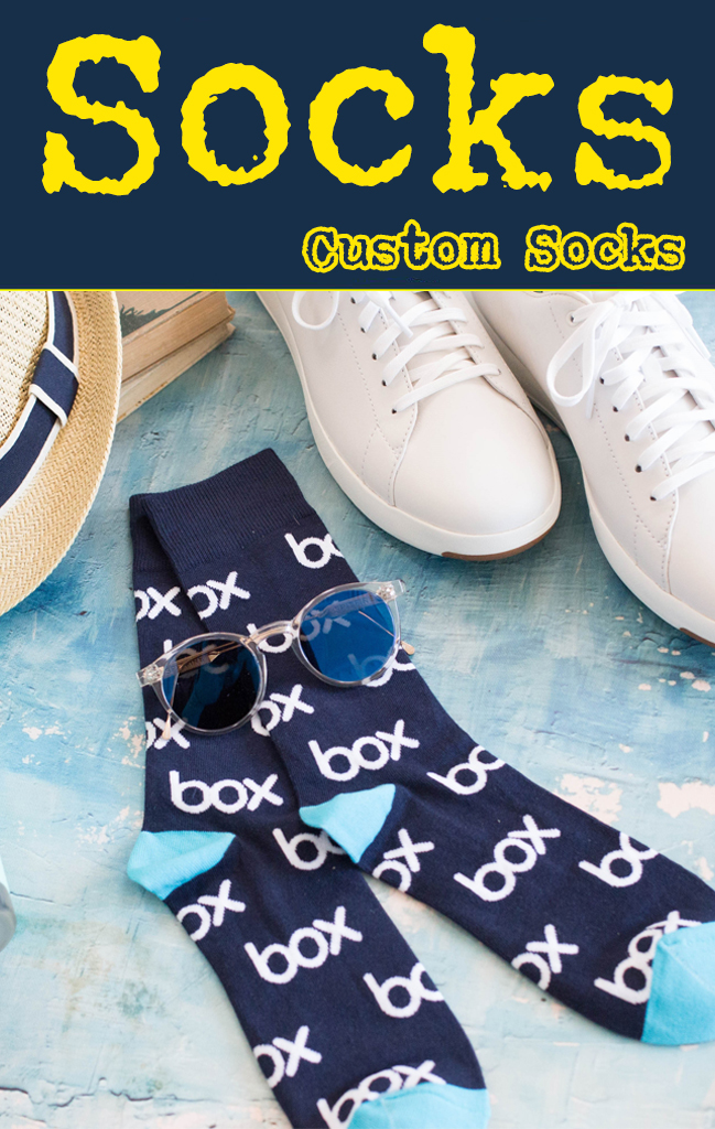 custom socks logo socks promotional product swag