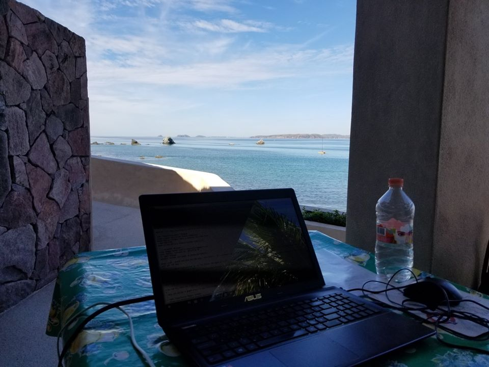 view from my Mexican office