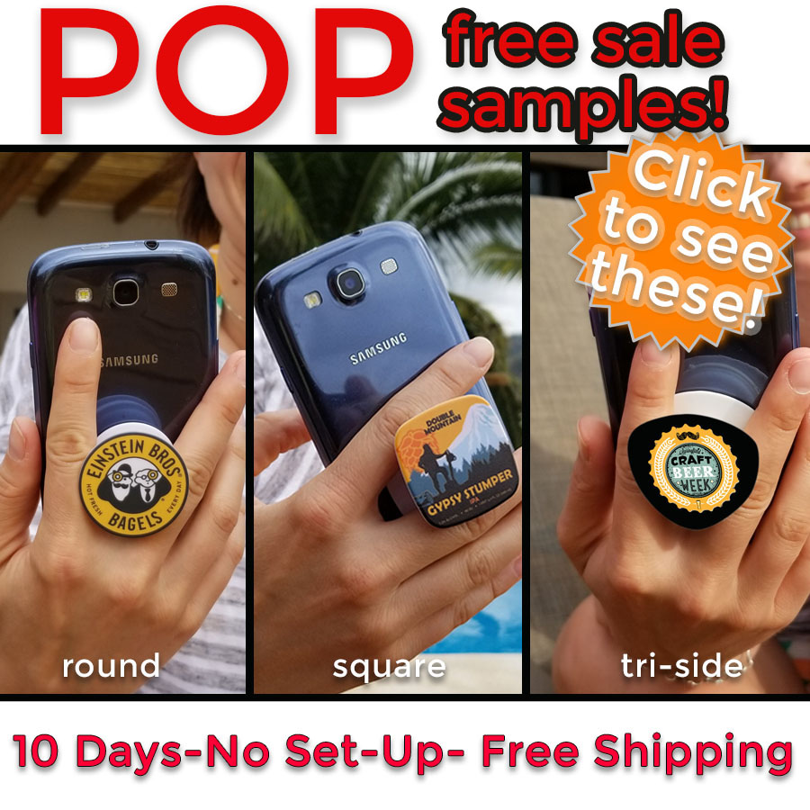 free pop grip phone samples for asi distributors