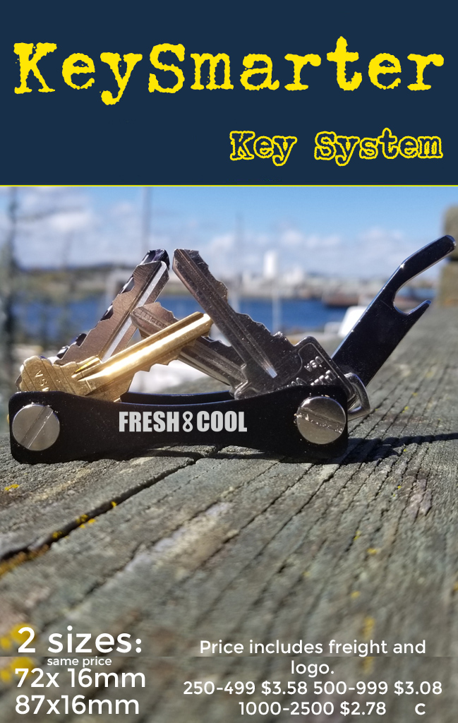 keysmart smart key system for keys. Promotional Product, b2b and tradeshow giveaway and marketing swag.