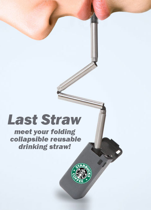 last straw folding reusable drinking straw