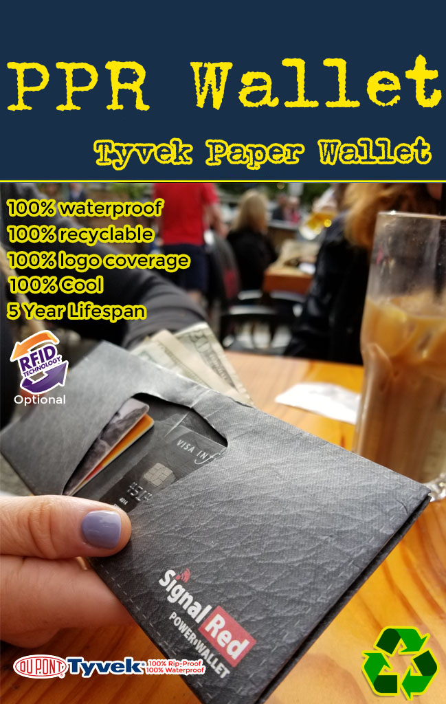 wholesale tyvek paper wallet for promotional products