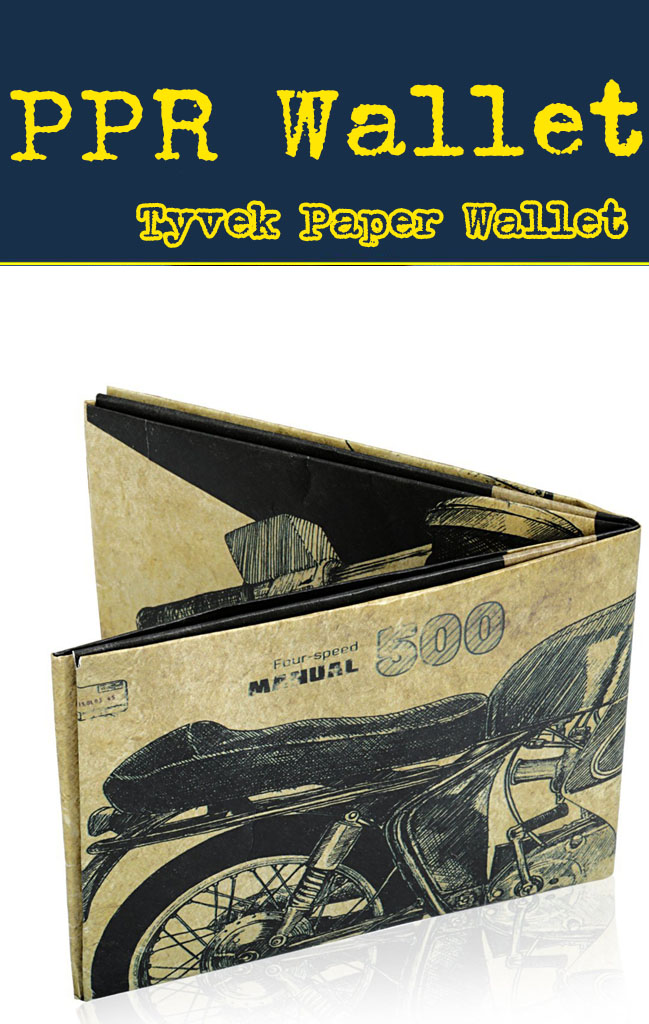 paper wallet tyvek for promo