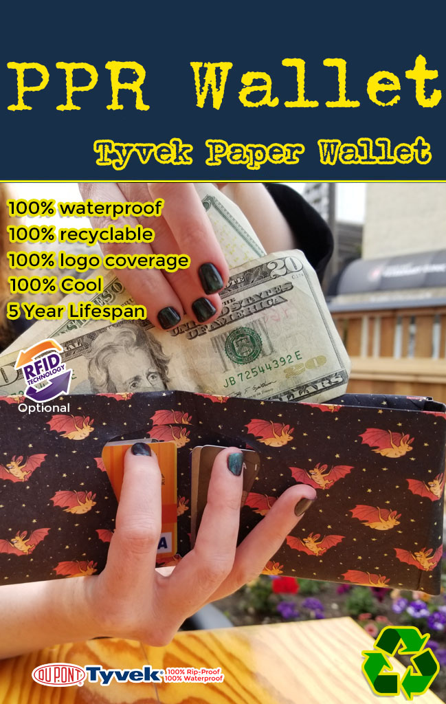 tyvek paper wallet for your business logo
