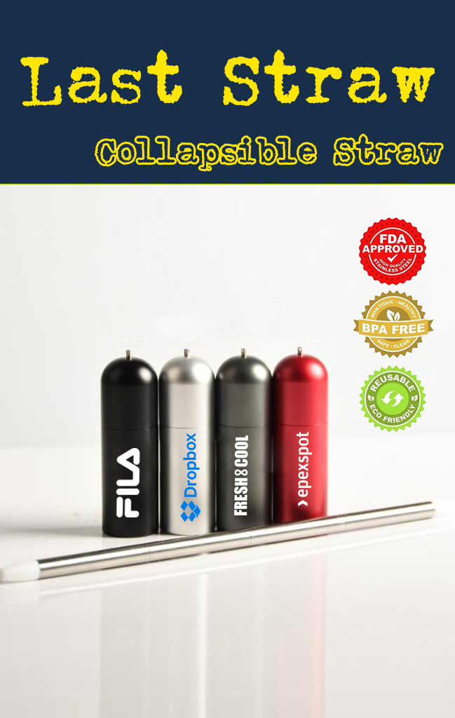 the last straw collapsible drinking straw for promotional product swag