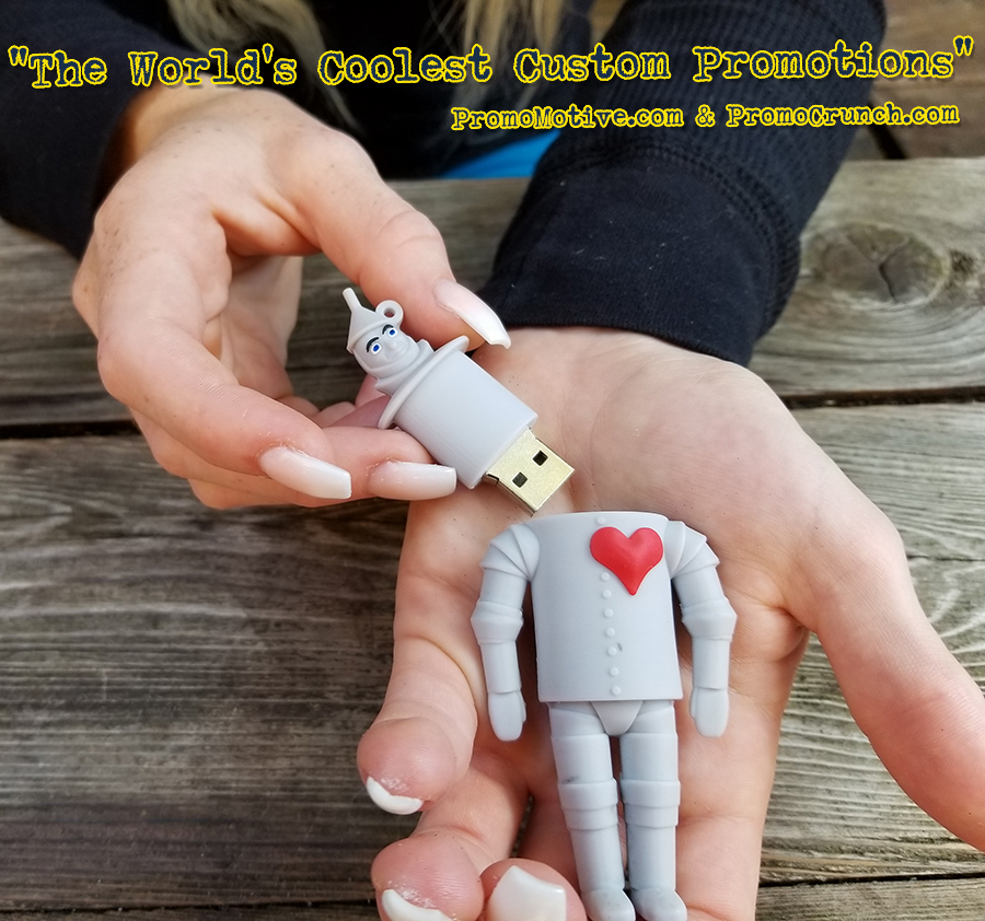 man shaped usb promotional