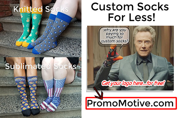 custom socks christopher walken promotional product