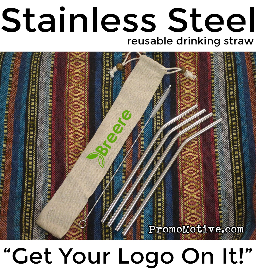 stainless steel drinking straws for promotional giveaway