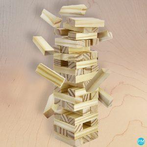 mini jenga tumbling tower