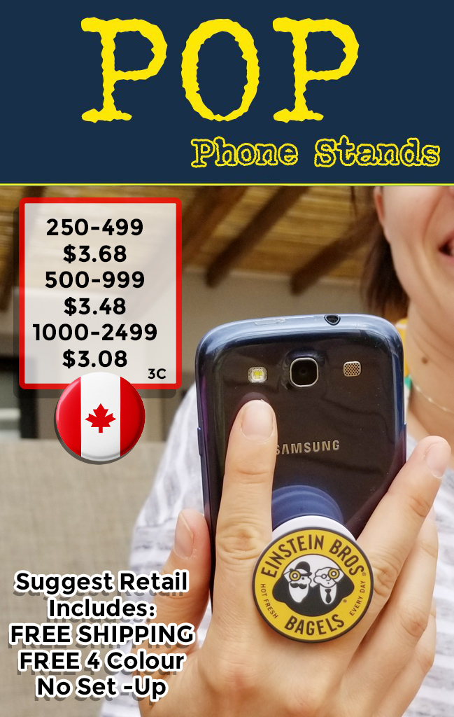 Canadian pop phone grips suggest retail coded C