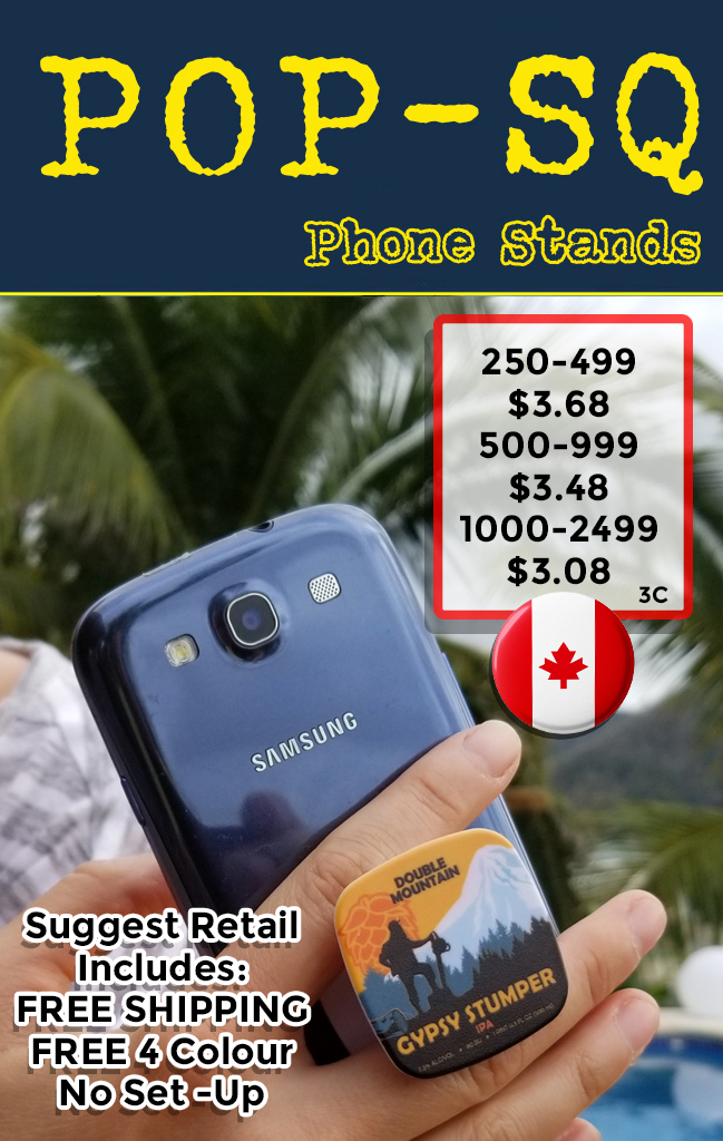Canadian square pop phone grips suggest retail coded C