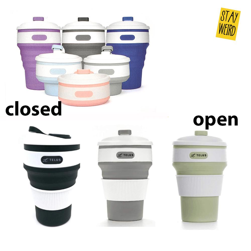 get your logo on a folding silicone coffee mug