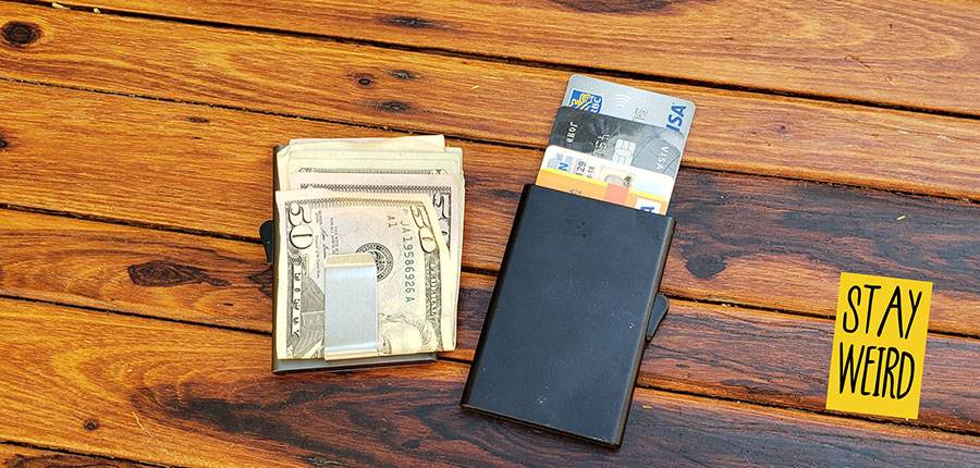 slide out credit card wallet promotional product