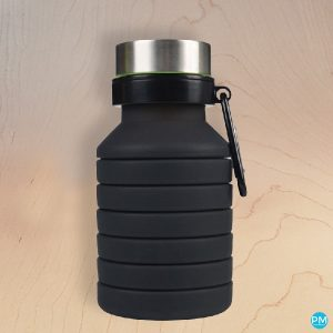 folding collapsible water bottle for business giveaway logo