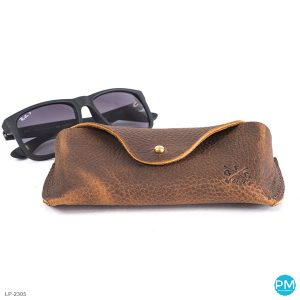leather promotional products vintage look eye glass case LP 2305