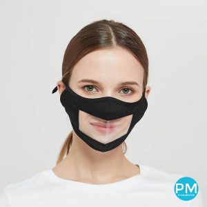 clear mask see through mask with logo