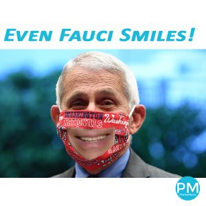dr fauci wears see thru clear vinyl mask